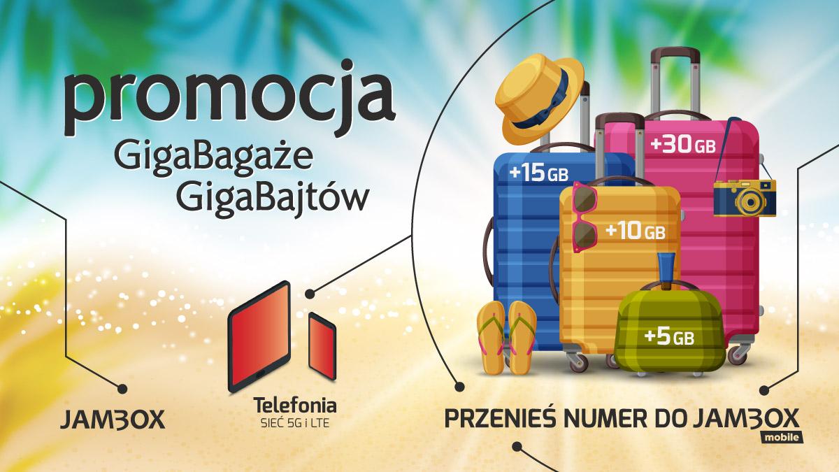 Wakacyjna promocja JAMBOX mobile: GigaBagaże GigaBajtów