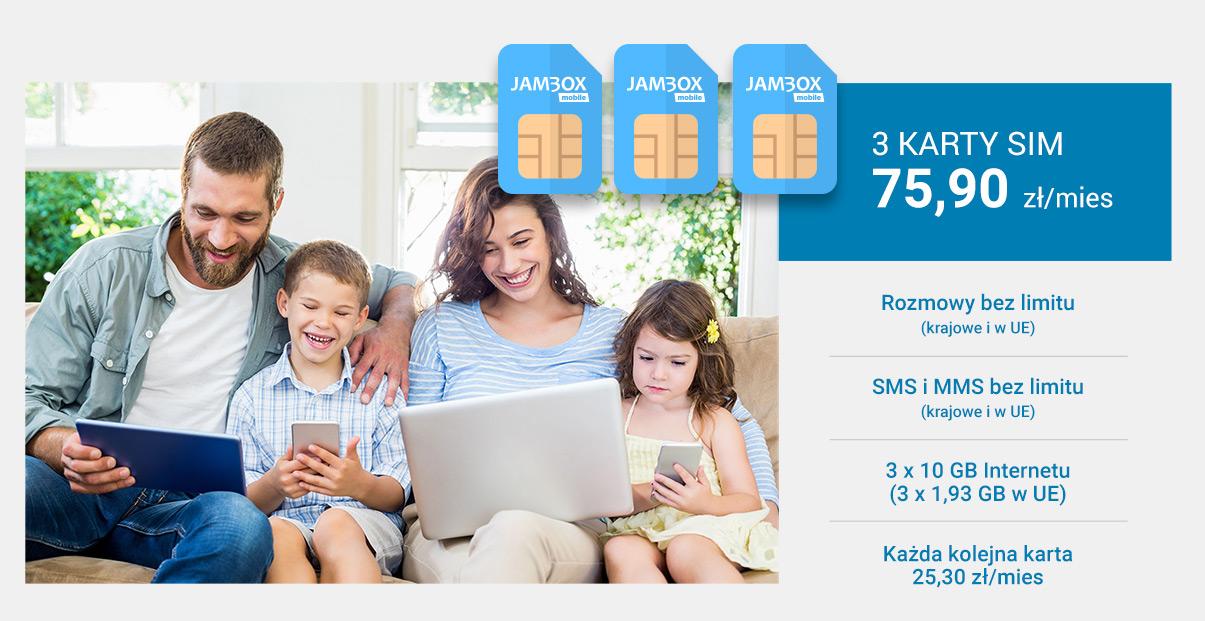 Promocja 3 karty SIM lub więcej